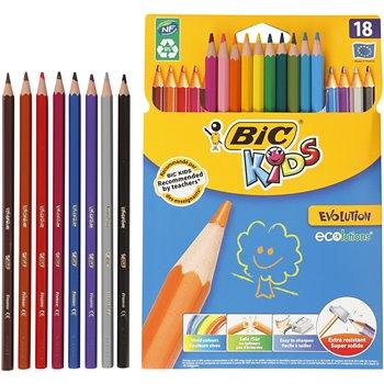 Lápices de colores Evolution - 18 unidades