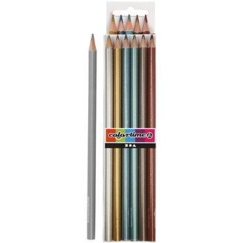 Lápices de colores Colortime - 6 unidades