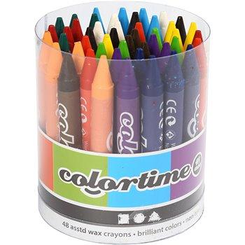 Lápices de cera ColorTime - 48 unidades