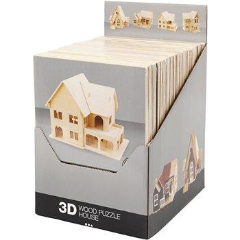 Kit de construcción 3D de madera - 24 unidades