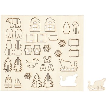 Figuras de madera - 1 paquetes