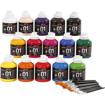Pintura acrílica A-Color - 1 set