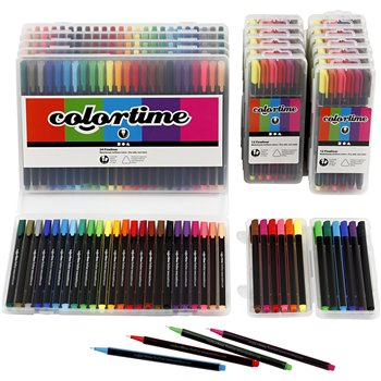Colortime Fineliner  - 18 paquetes