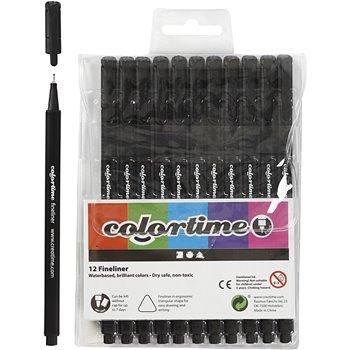 Colortime Fineliner  - 12 unidades