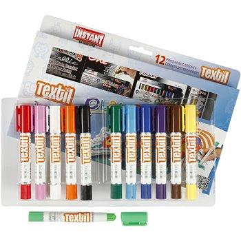 Pintura textil Playcolor - 12 unidades