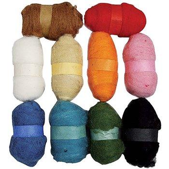 Surtido de lana cardada - 10x25 gr