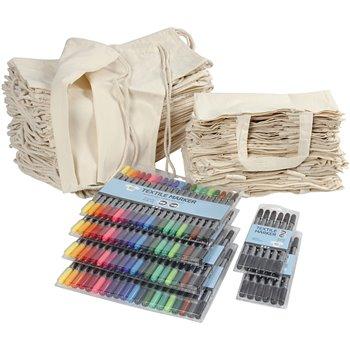 Bolsas y mochilas con rotuladores - 1 set