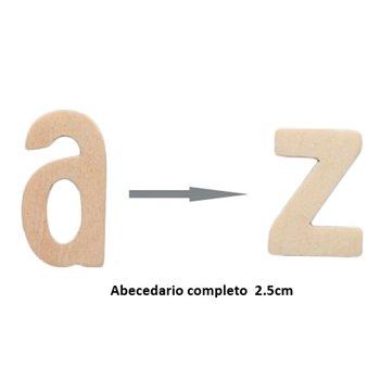 ABECEDARIO MADERA 2,5CM/12