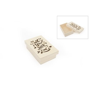CAJA ALL YOU NEED IS LOVE 14X9X4CM