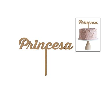 SET 4 TOPPERS PRINCESA 14X9.8X0.3CM DM