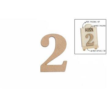 SET 12 NUMEROS 2 5.2X0.3CM DM