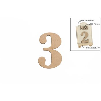 SET 12 NUMEROS 3 5.2X0.3CM DM