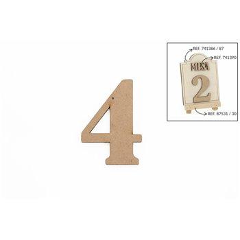SET 12 NUMEROS 4 5.2X0.3CM DM