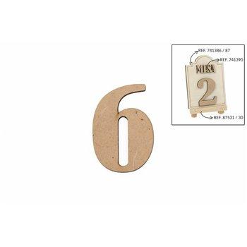 SET 12 NUMEROS 6 5.2X0.3CM DM