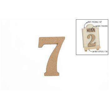 SET 12 NUMEROS 7 5.2X0.3CM DM