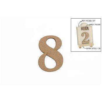 SET 12 NUMEROS 8 5.2X0.3CM DM
