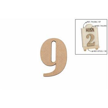 SET 12 NUMEROS 9 5.2X0.3CM DM
