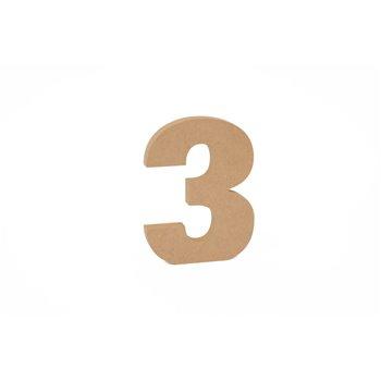 SET 3 NUMEROS 3 15X1.6CM DM