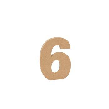 SET 3 NUMEROS 6 15X1.6CM DM