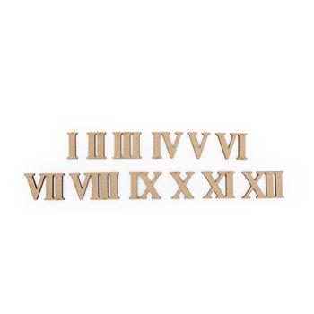 SET 12 NUMEROS ROMANOS 3X0.3CM MDF
