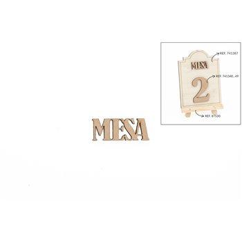 SET 12 PALAVRAS MESA 3.8X1.5X0.3CM DM