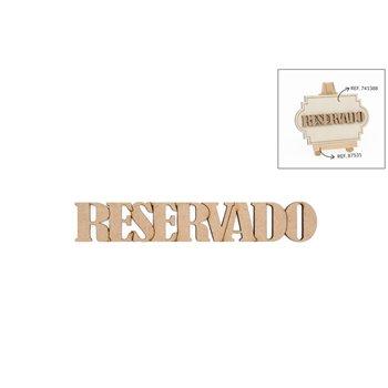 SET 12 PALAVRAS RESERVADO 10.6X1.8X0.3CM DM