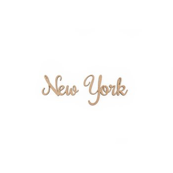 SET 12 PALABRAS NEW YORK 11.9X3X0.3CM MDF