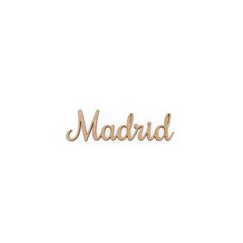 SET 12 PALABRAS MADRID 10X3X0.3CM MDF