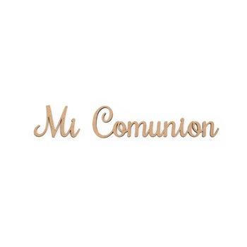 SET 6 PALABRAS MI COMUNION 16.4X3X0.3CM MDF