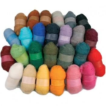 Surtido de lana cardada