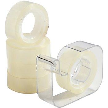 Cinta adhesiva con dispensador - 1 set