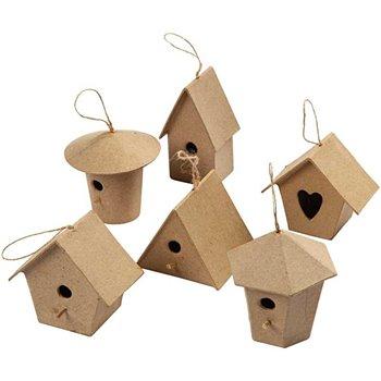 Casas de pájaros mini - 6 unidades