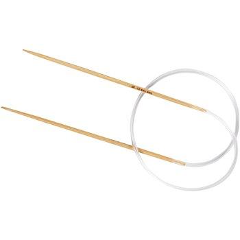 Aguja circular de bambú.