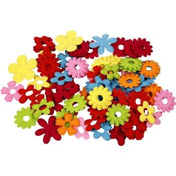 Flores de fieltro - 135 unidades