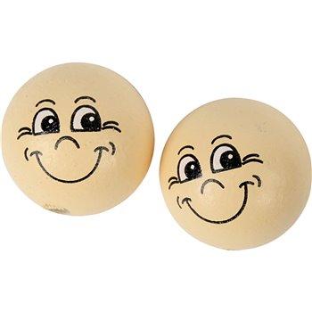 Pelotas de cara sonriente - 10 unidades