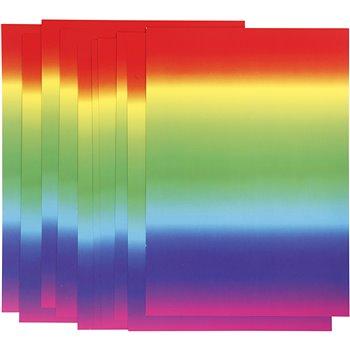 Cartulina arcoiris - 10 hoja