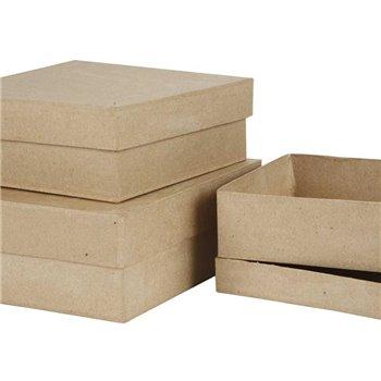 Cajas cuadradas - 3 unidades