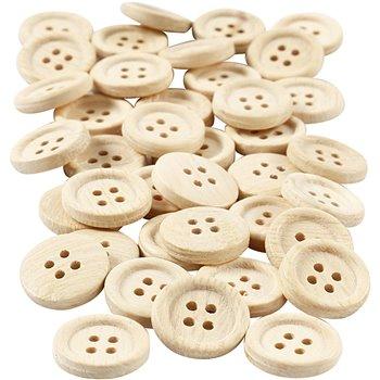 Botones de madera - 40 unidades