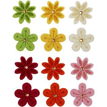 Flores de fieltro - 120 unidades