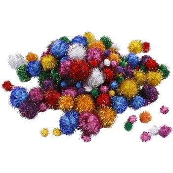 Pompones brillantes - 62 gr