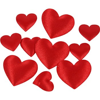 Corazón de satén - 70 unidades