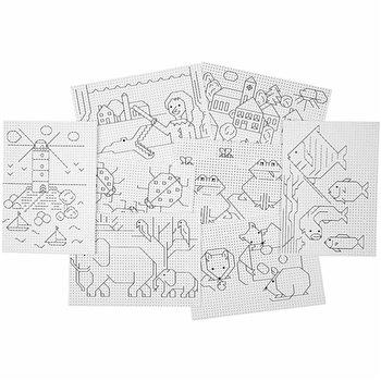Cartulina de diseños para punto de cruz - 8x5 hoja