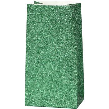 Bolsas de papel con purpurina - 8 unidades