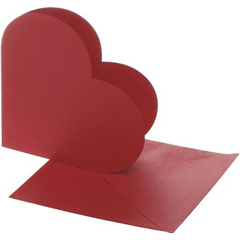 Tarjetas con forma de corazón - 10 set