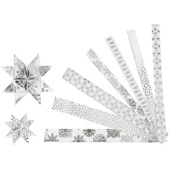 Tiras de estrellas de papel - 48 tiras
