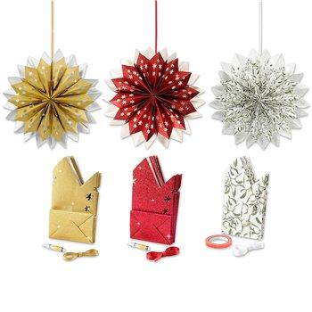 Estrella con bolsas de papel - 3x10 paquetes