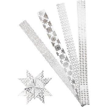Tiras de estrellas de papel - 40 tiras