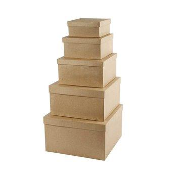 Cajas cuadradas con tapa - 5 unidades