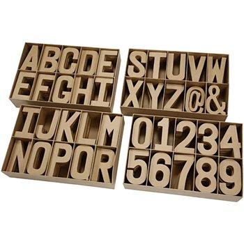 Surtido de letras, números y signos - 160 unidades