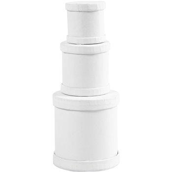 Cajas en forma de tambor - 1 set